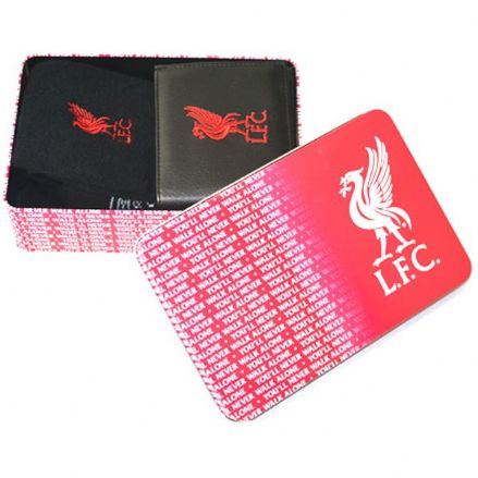 Liverpool Supporters Wallet and Socks Tin